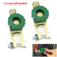 2Pcs Battery Link Terminal Quick Cut-off Disconnect Master Kill Switch Auto Boat