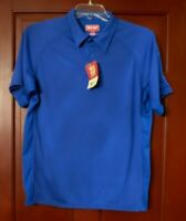 Red Kap SK92 Men's Performance Knit Flex Series Active Polo Royal Blue Size Med