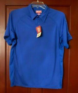 Red Kap SK92 Men's Performance Knit Flex Series Active Polo Royal Blue Size L