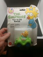 Maggie Simpson Simpsons Mattel Rev' n Go Racer Car Mint on Card 1990 ARCO