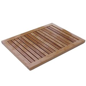 Shower Bamboo Floor Mat Bath Skid Shower Mat Heavy Duty Bathroom Outdoor