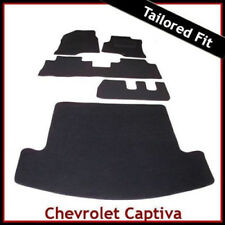 CHEVROLET CAPTIVA 7-Seater 2006 onwards Tailored Carpet Car and Boot Mats BLACK