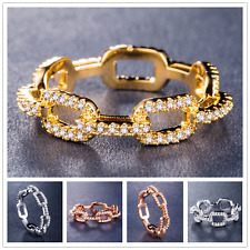 Luxury Women Jewelry 925 Silver,gold,rose Gold Ring White Sapphire Ring Size6-10