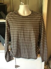 Prana Striped LS Shirt Mens M