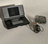 Nintendo DS Lite Cobalt/Black Console UGS-001 Tested - Works - Display Issue
