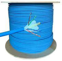 100m CAT6 LSZH LSOH  B2ca 100% COPPER POE 10gig Blue Data Network Cable Indoor