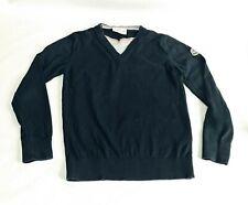 Moncler Boy Sweater 6 116cm Blue Cotton Long Sleeve Logo Layered Collar Pullover