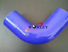 "89mm 3.5"" 90° Degree Elbow Silicone Hose Turbo Intake Intercooler Pipe BLUE"