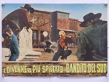 E DIVENNE IL PIU' SPIETATO BANDITO DEL SUD western di Julio Buchs fotobusta 1967