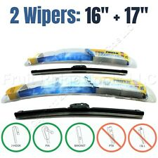 "PAIR Rain-X 16""+17"" Premium Latitude All-Weather Front Windshield Wiper Blades"