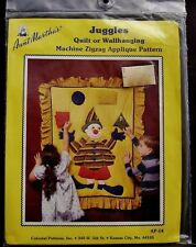 Aunt Martha Juggling Clown Applique Pattern Learning Quilt Sewing Craft Quilting