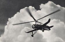 1931 Vintage 11x14 ~ AVIATION AIRPLANE Aerial Autogyro Aircraft Clouds Photo Art