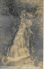 Crystal Falls Cascade White Mt NH real photo vintage postcard postally used 1904
