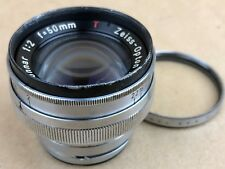 Contax RF Carl Zeiss Opton 50mm F/2 Sonnar T Lens #707085 w/ Walz UV Filter