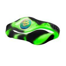 Authentic Power Balance Silicone Wristband - Swirl Neon Green/Black - X-Small