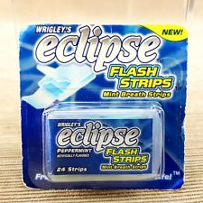 Wrigley's Eclipse Flash Strips Peppermint 24 Mint Fresh Breath Strips Sealed