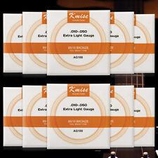 10 Sets Acoustic Guitar String Phosphor Bronze Extra Light Gauge 0.01-0.05 inch