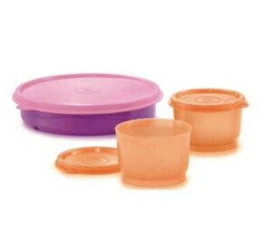 Tupperware Twinkle Feeding Set Snack Cups Divided Plate Free Postage