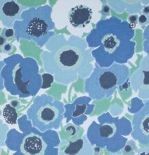 Danish Mod Blue Floral Vintage Original Wallpaper