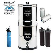 Big Berkey Water Purifier(2.1 G) w2 Black, 2 Pf-2 Filters w Sport Bottle