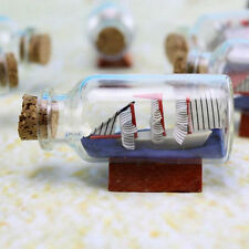 Figurines Miniatures Sailing Boat Drift Bottle Charm Small Cork Glass Decor
