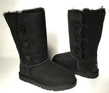 UGG AUSTRALIA BAILEY BUTTON TRIPLET BOOTS YOUTH SIZE 6/ FIT WOMEN'S US 8-Black