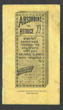 Ca 1920'S SPRINGFIELD MA ABSORBINE ANTISEPTIC LINIMENT FOR HORSES, SEE INFO
