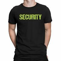 Awesome Security T-Shirt Black Mens Neon Tee Staff Event
