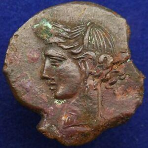 ZEUGITANIA, Carthage Æ Shekel. Second Punic War, circa 221-210 BC