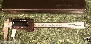 3in1 6 inch FRACTIONAL SAE & METRIC DECIMAL ELECTRONIC DIGITAL CALIPER W/ CASE