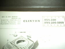 clinton engine parts list,clinton AVS-200,200-1000 illustrated parts list