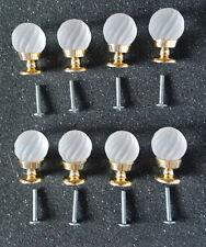 8 Opaque Swirl Glass gold effect door drawer cabinet knobs handles knob handle