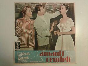 FOTOBUSTA CINEMATOGRAFICA AMANTI CRUDELI DOROTHY LAMOUR DOUGLAS SIRK 1949