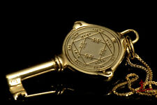 Kabbalah pendant. King Solomon VICTORIOUS seal.Gold plated.gift bussinuss succe