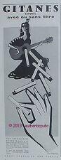 PUBLICITE CIGARETTES GITANES CAPORAL GITANE GUITARE SIGNE FIX MASSEAU DE 1957 AD