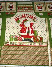 "Ho Ho Holiday Santa Debbie Mumm Christmas Fabric APRON Panel 29""   #67447"