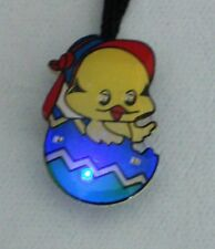 10 Easter Bunny Chicken Egg Blinking Light Necklace Pin Party Gift Bag Filler