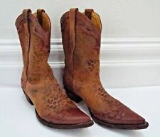 NEW OLD GRINGO Villa leopard print brushed leather western cowboy boots size 10