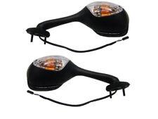 Paire De Rétroviseurs avec clignotant noir E- À carreaux Pour Suzuki GSX-R GSXR