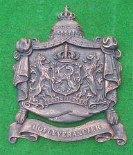 *Großes Königliches WappenSchild-Antik Bronze Gusseisen