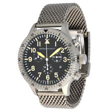 Messerschmitt Aristo señores cuarzo cronograph 5030m vintage melanaiseband 5atm