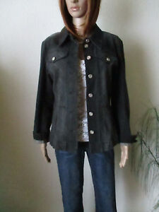 Betty Barclay Collection Damen Jeans  Jacke Gr.40 grau-kariert