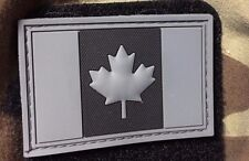 PVC PATCH CANADA FLAG RUBBER LEAF CANADIAN TACTICAL ARMY OPS MORALE ACU Swat