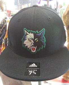 "Adidas Minnesota Timberwolves Fitted Hat Sz 7 1/2"""