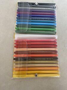 Vintage Pentel Color Pen 24 Colors Fine Point Markers S360-24 Japan