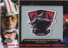 STAR WARS GALACTIC FILES SERIES 1 PR-1 EMBROIDERED PATCH RELIC X WING RED LEADER
