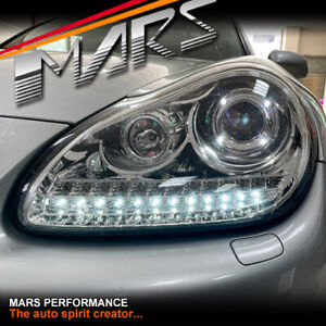 LED DRL Projector Head Lights for Porsche Cayenne 955 9PA 2003-2006 -Xenon model