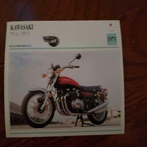 "Kawasaki 750 Z2 900 Z1 Motorcycle Photo Spec Sheet Info Card Aprox. 5""x5"" NOS"