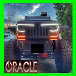 Oracle Lighting Vector 1PC LED Black Grille For 2007-2018 Jeep Wrangler JK NEW!