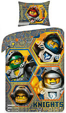 Lego Nexo Knights Set Bed 100 Cotton Duvet Cover 140x200 Pillowcase 70x90